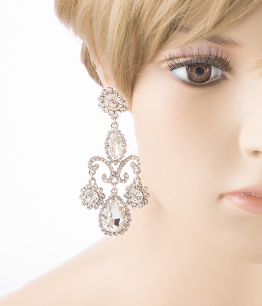 Bridal Wedding Prom Jewelry Crystal Rhinestone Exquisite Dangle Earrings E614