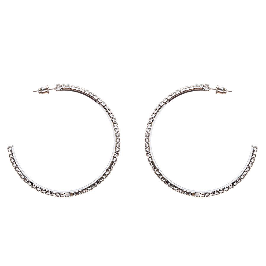 Exquisite Sparkle Crystal Rhinestone Hoop Design Fashion Earrings E689