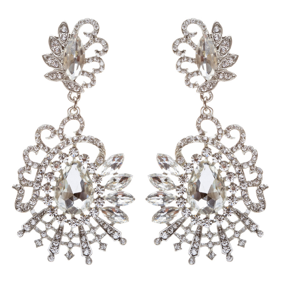 Bridal Wedding Jewelry Crystal Rhinestone Exquisite Unique Dangle Earring E680