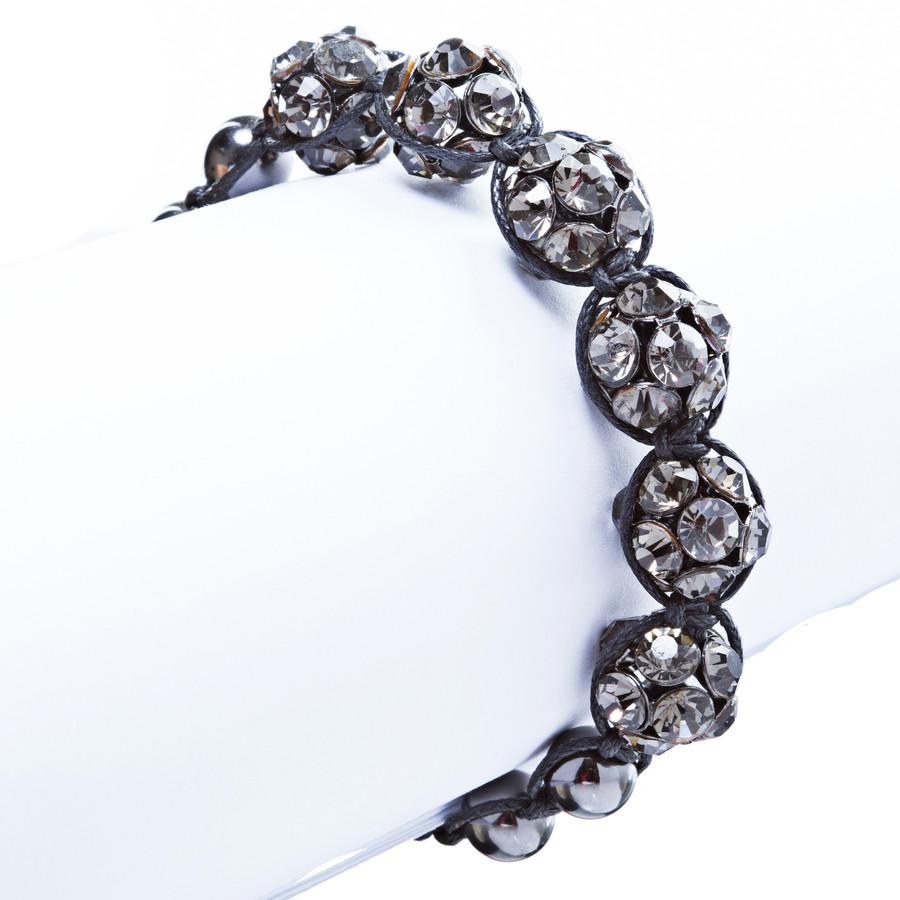 Crystal Stretch Cuff Vintage Fashion Bracelet Black B281