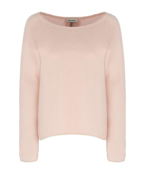 Plain Knit Round Neck Pull Over