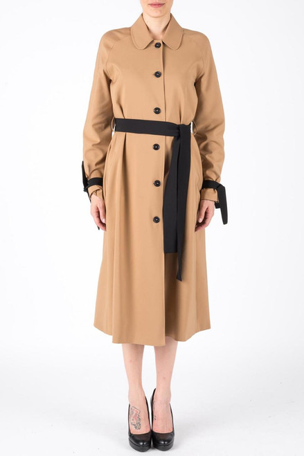 LONG TRENCH COAT WITH BELT AND LACE