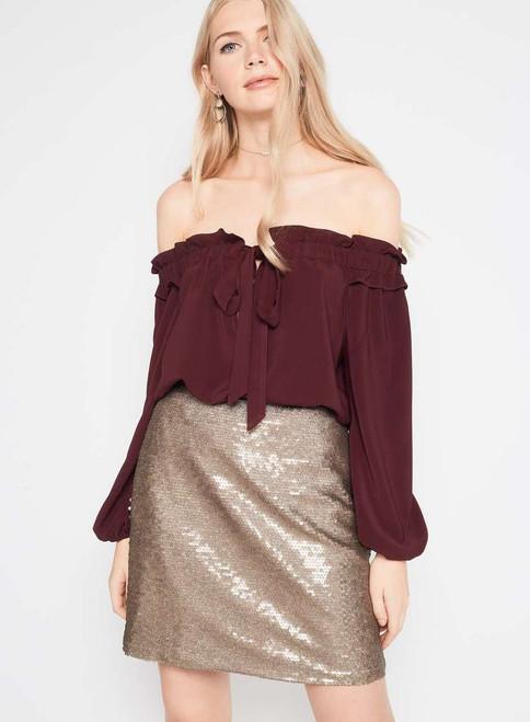 PREMIUM Gold Sequin Skirt