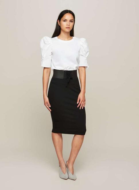 Black Corset Pencil Skirt