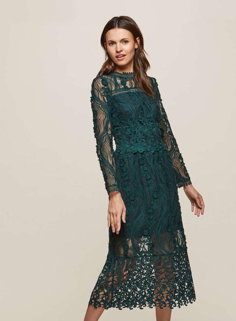 PREMIUM Lace Midi Shift Dress