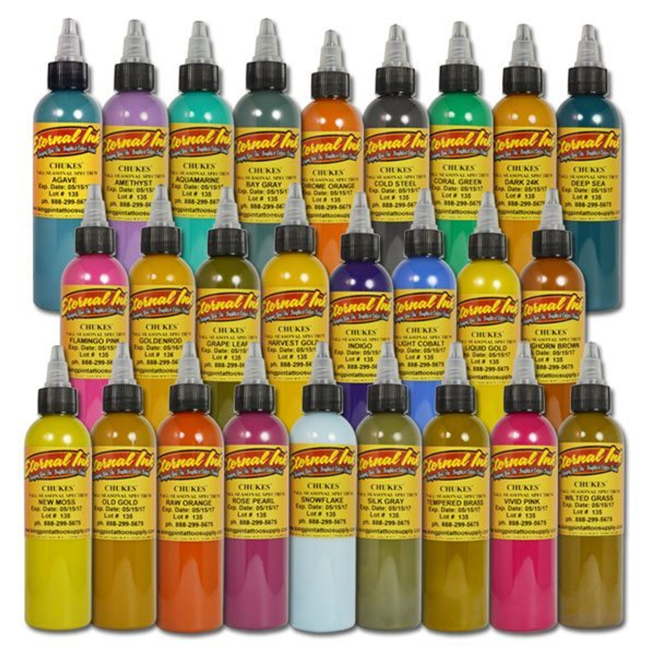 Eternal Ink - Chukes\' Seasonal Spectrum Set - Tattoo Express Supply