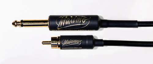 Maximo Tattoo Cables - Straight RCA Cable - 7 ft