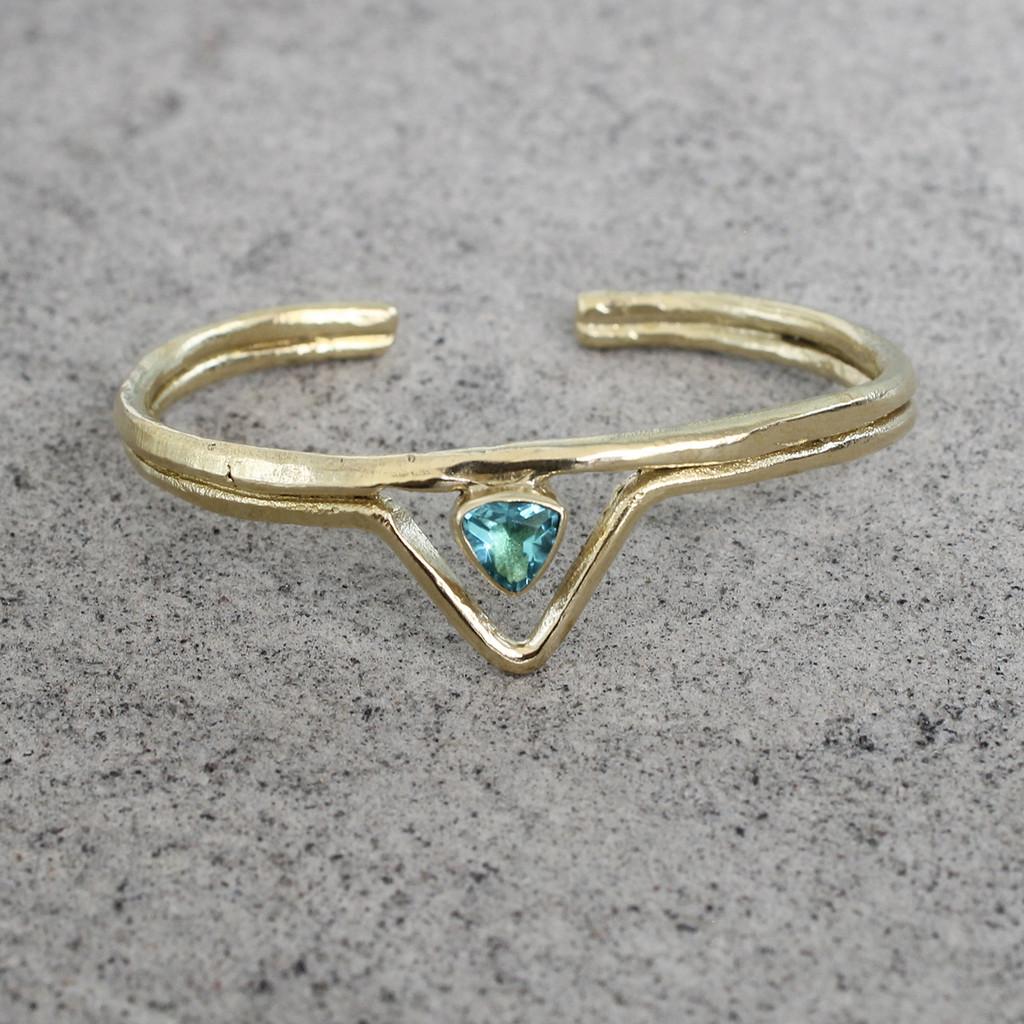 Brass/Aqua