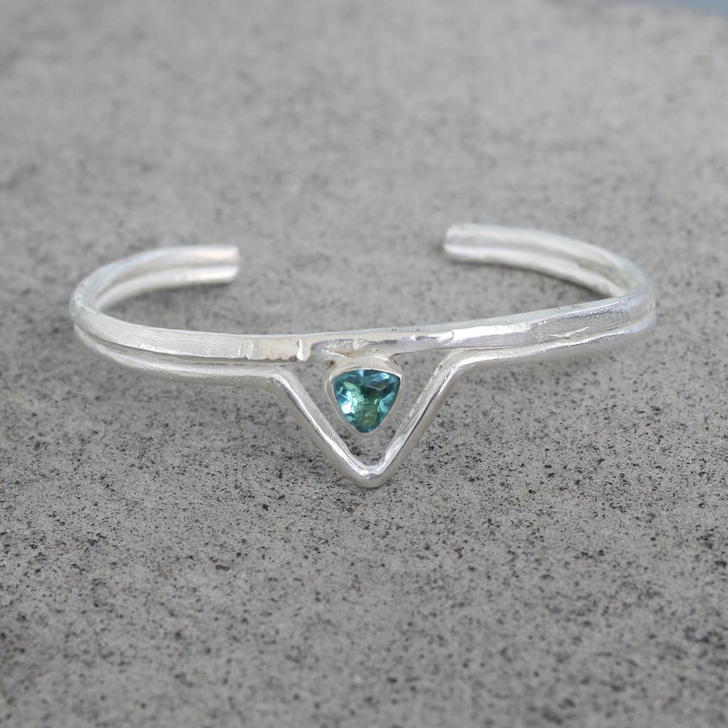 Silver/Aqua