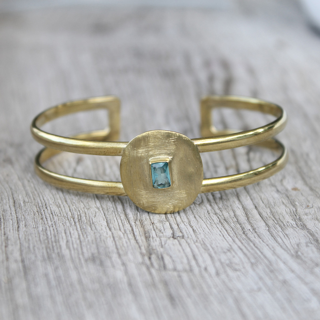 Brass with Aqua