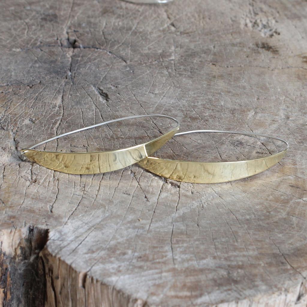 Unique brass hoop earrings