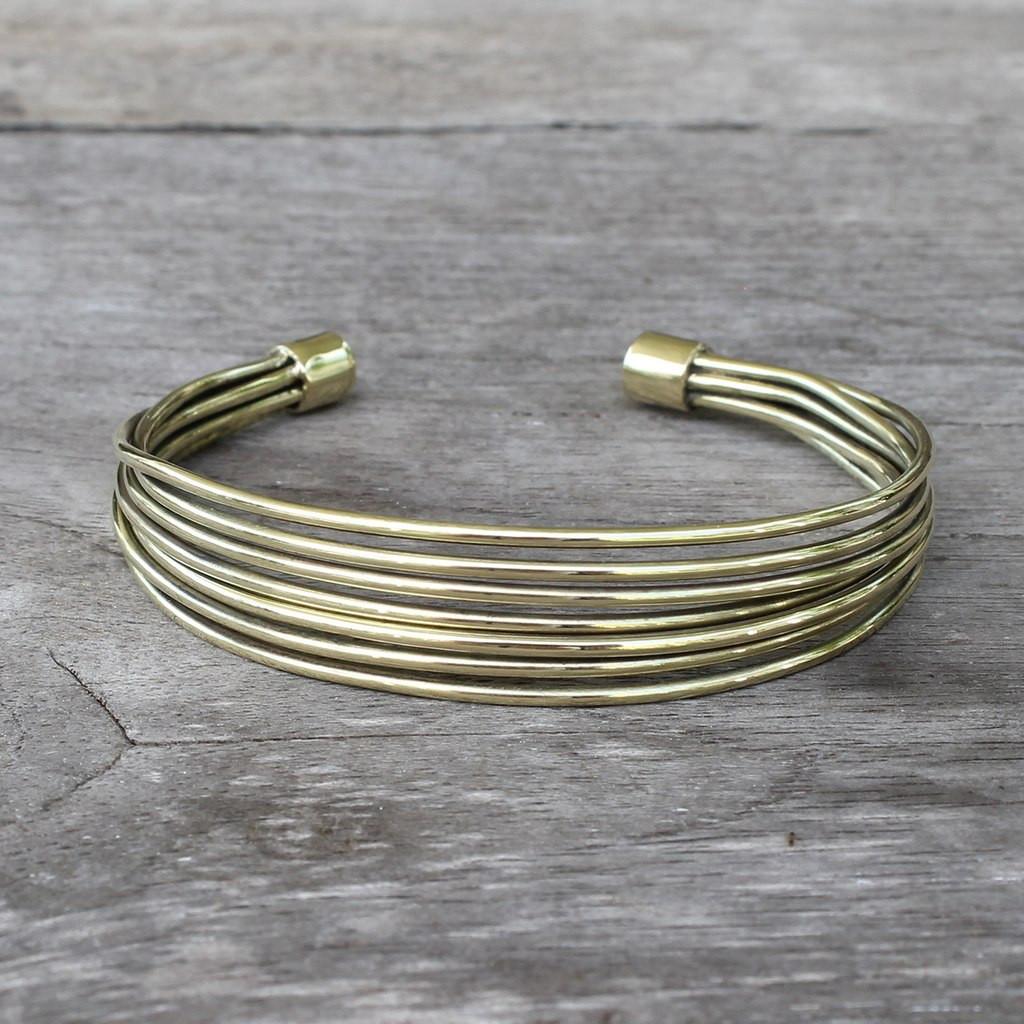 adjustable brass cuff