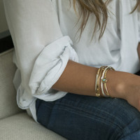 delicate brass hinged cuff