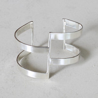 Stunning adjustable silver statement cuff.