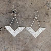 Handmade, unique silver earrings