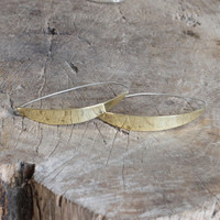 Unique brass hoop earrings