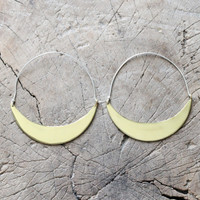 Statement brass hoop earrings