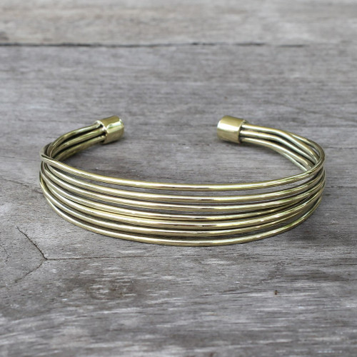 adjustable brass cuff