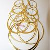 6 pc gold hoop earring set.