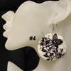 Cheap butterfly shell earrings