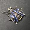 Blue beetle hair clip