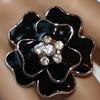 Black flower rings