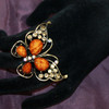 Wholesale brown butterfly rings