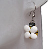 Kids yellow with white wings bumblebee earrings