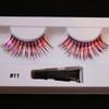 #11 Red/silver tinsel eyelashes