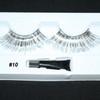 #10 Long silver tinsel eyelashes
