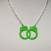 Green handcuff necklace