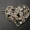 Iridescent heart barrette