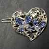 Blue heart barrette