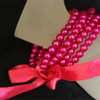 Hot pink kids pearl bracelet
