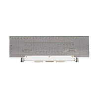 GONSTEAD SPINOGRAPH PARALLEL RULER, PLASTIC WITH STEEL ROLLER