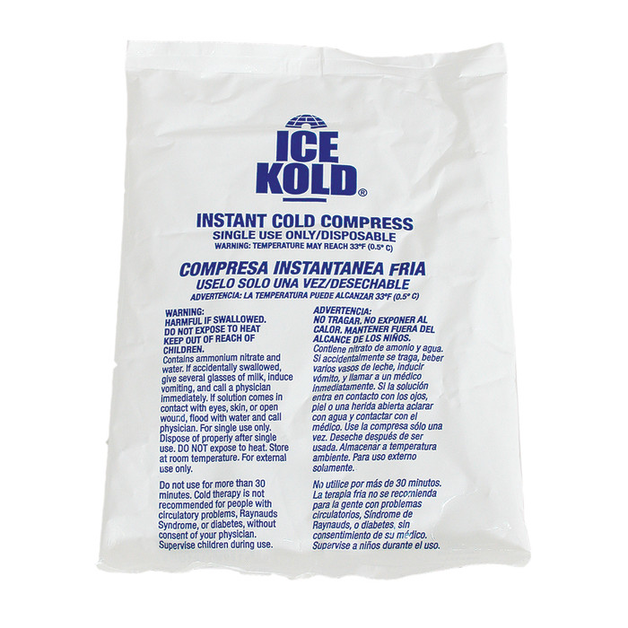 "STANDARD ICE KOLD INSTANT ICE COMPRESS, 6"" X 8-1/4"""