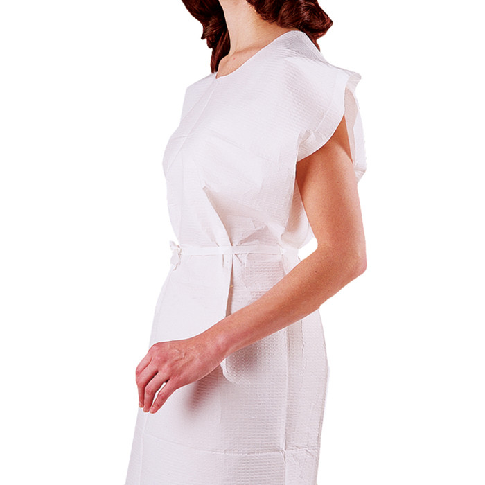 """DISPOSABLE GOWNS, WHITE, 30"""" X 42"""", 50/CASE"""