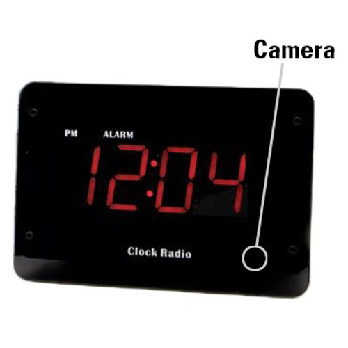 clock radio hidden camera w/ night vision & wifi live