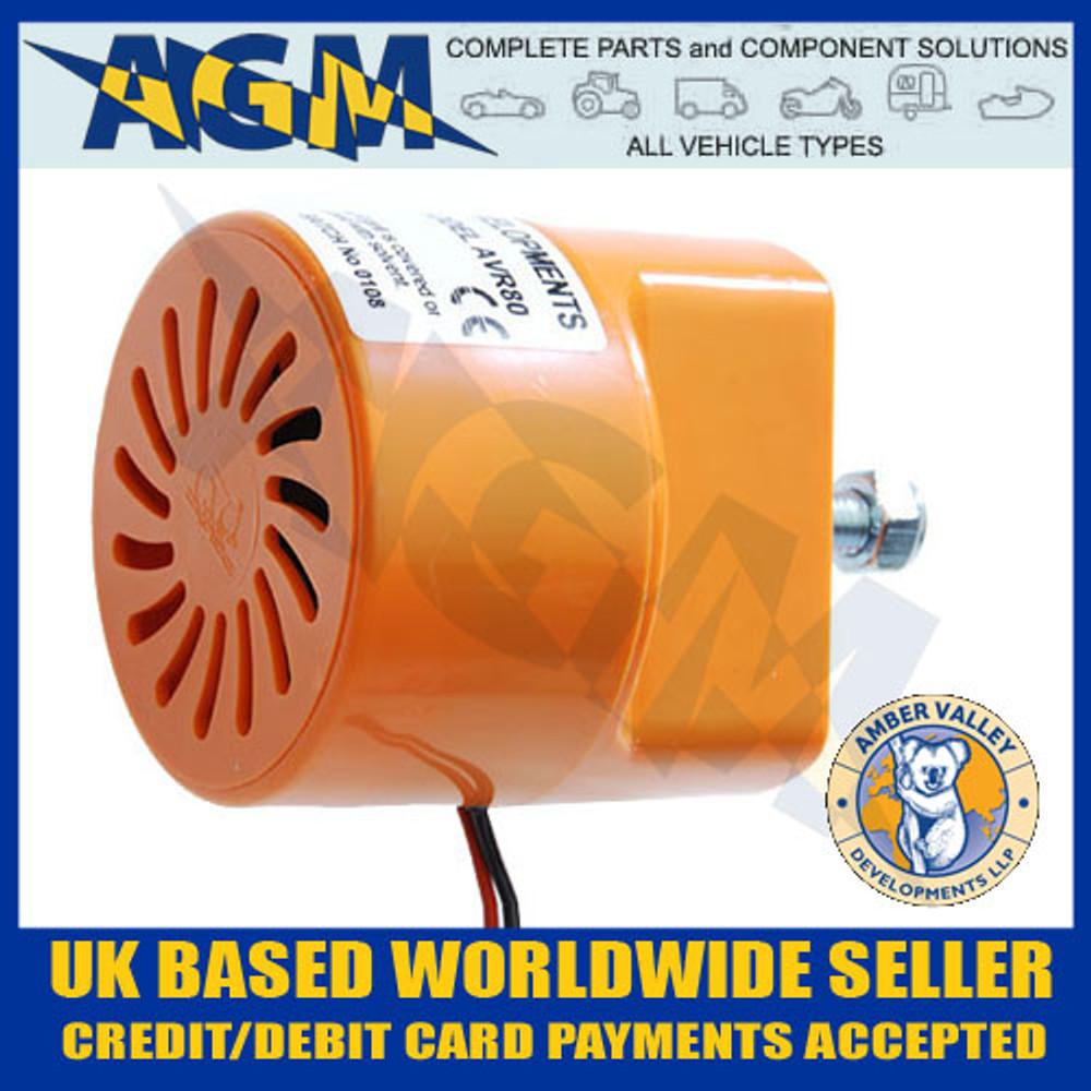amber, valley, avr80, 12v, 24v, reverse, alarm, bleeper, 102db