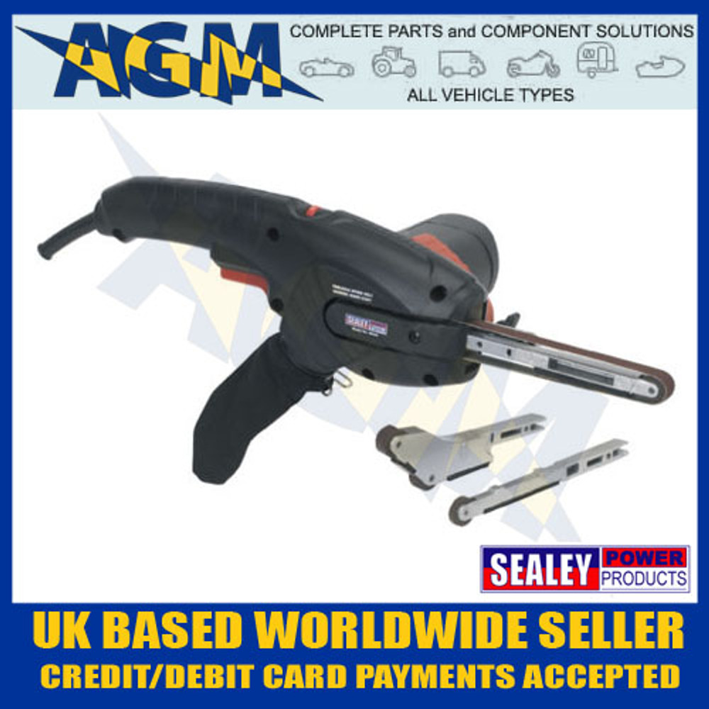 sealey, sbs35,  hand, held, variable, speed, belt, sander, 400w, 230v