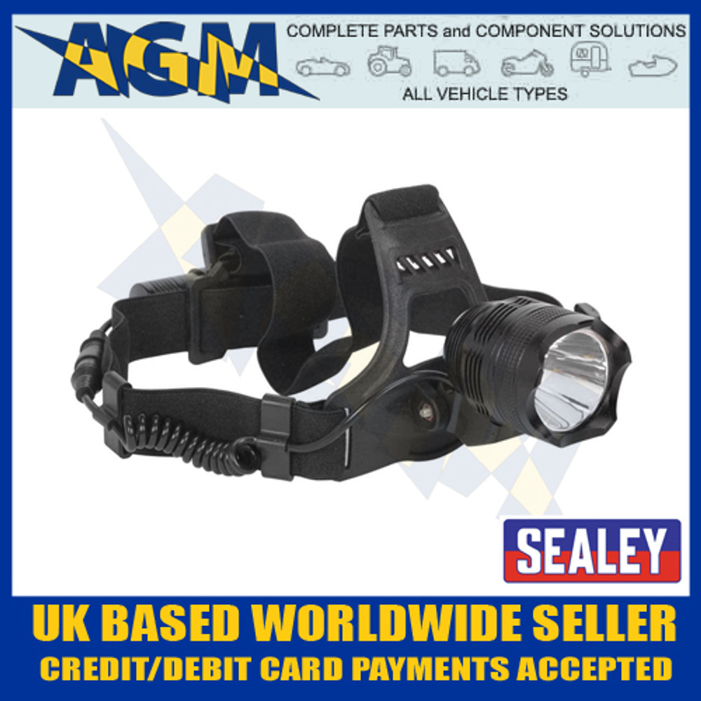 sealey, cordless, head, torch, cree, led, rechargeable, ht105led, headband, lamp