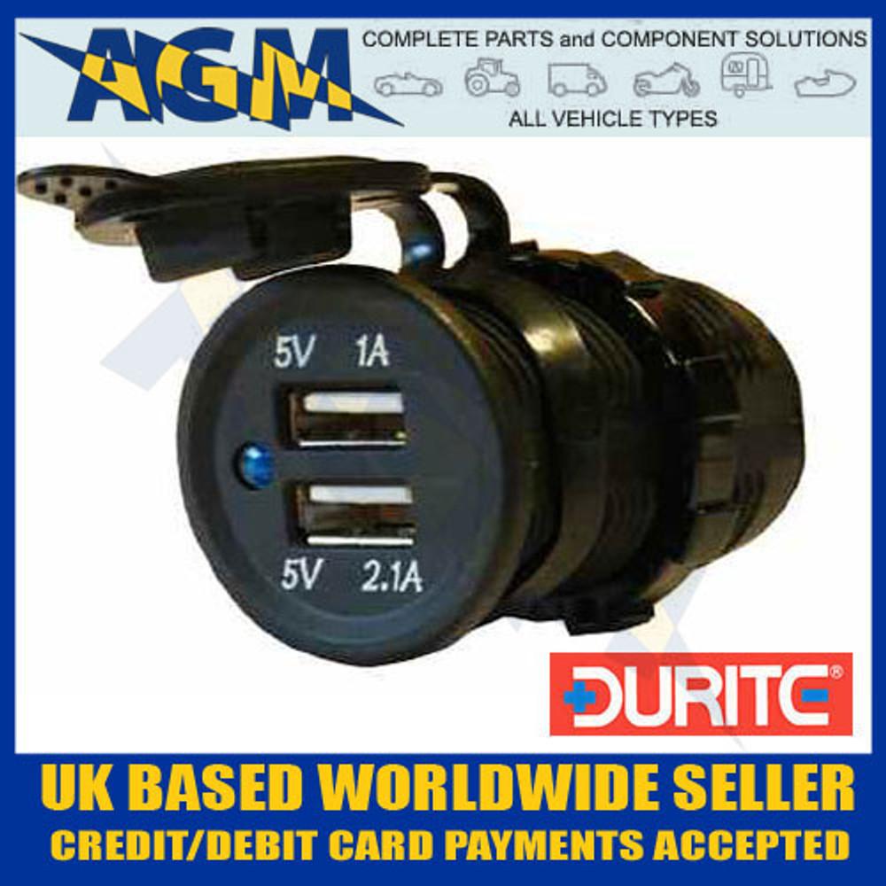 durite, 0-601-08, 060108, usb, power, socket