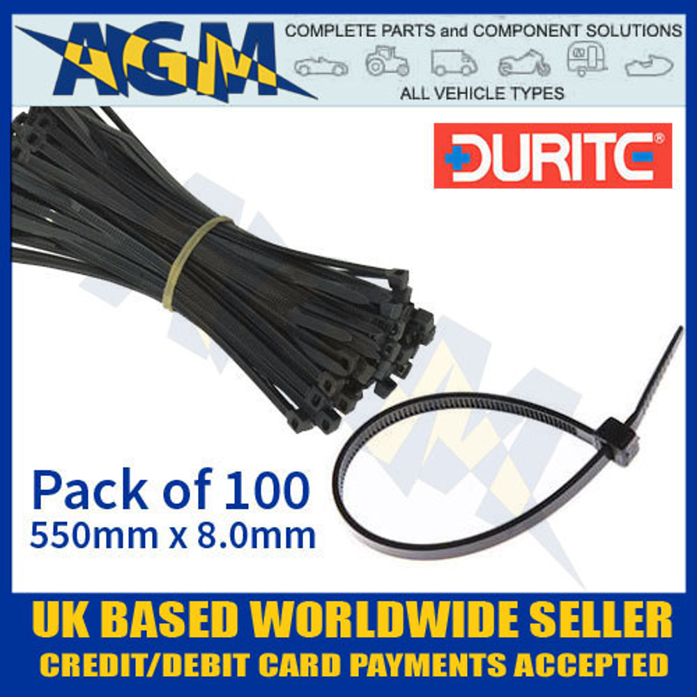 durite, 0-002-68, 000268, black, cable, tie, 550, 8