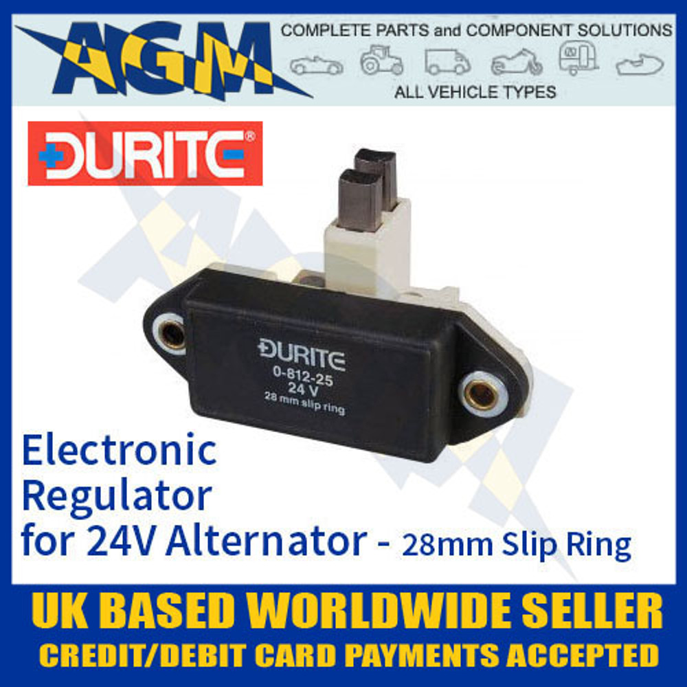 durite, 081225, 0-812-25, electronic, regulator, 24v, alternator, slip, ring