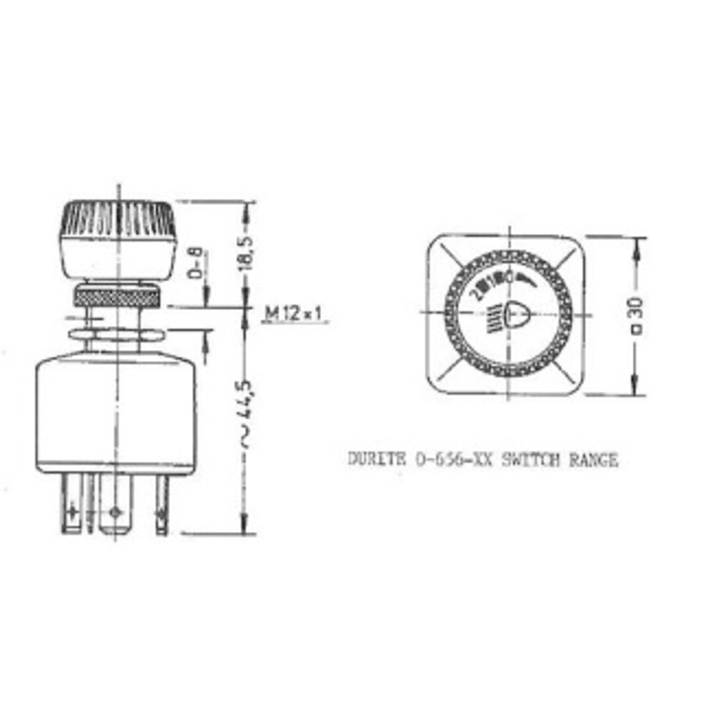 0-656-04 Off-Side-Head Three Position Splash-Proof Rotary Switch 29A