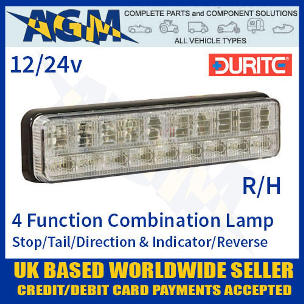 durite, 0-300-14, 030014, function, 12v, 24v, r/h, led, slimline, rear, combination, lamp