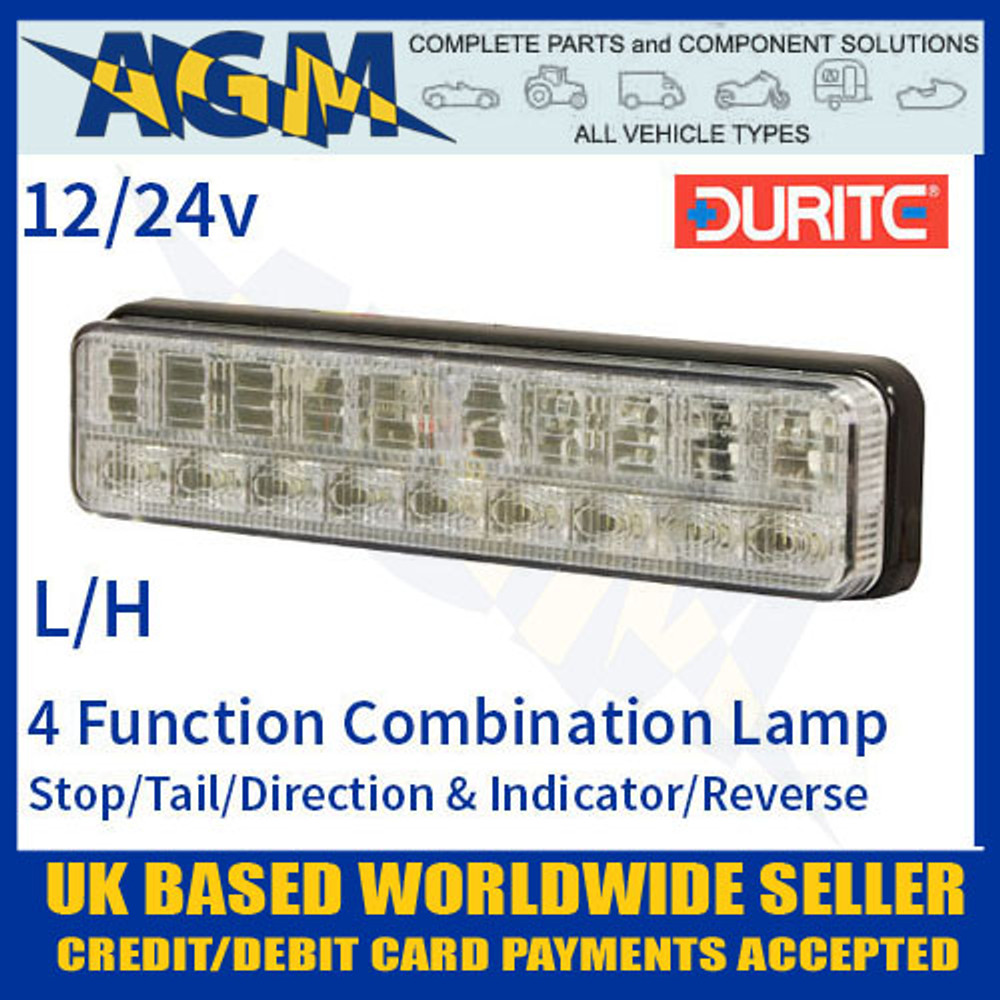durite, 0-300-15, 030015, function, 12v, 24v, l/h, led, slimline, rear, combination, lamp