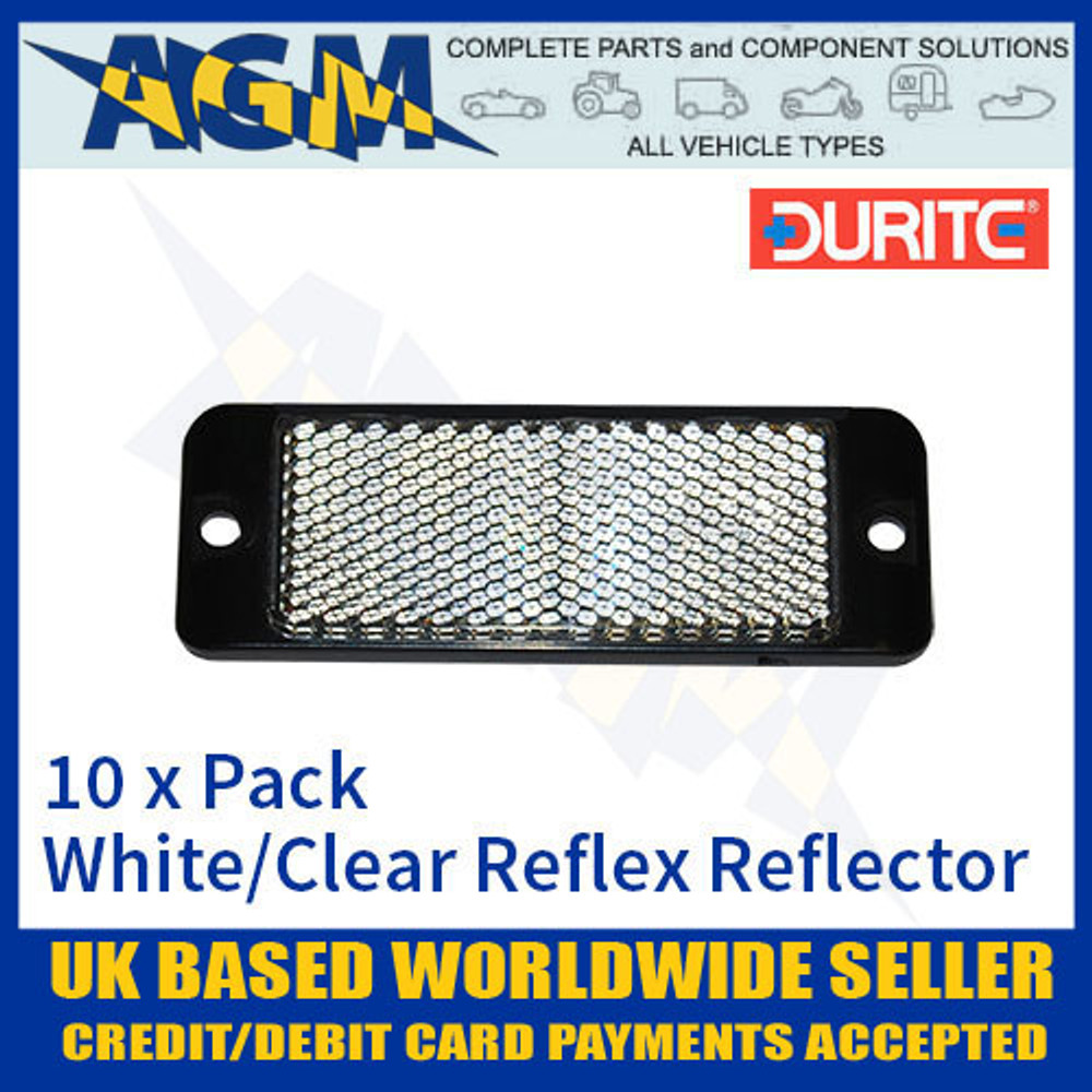 durite, 0-505-20. 050520, white, reflex, reflector