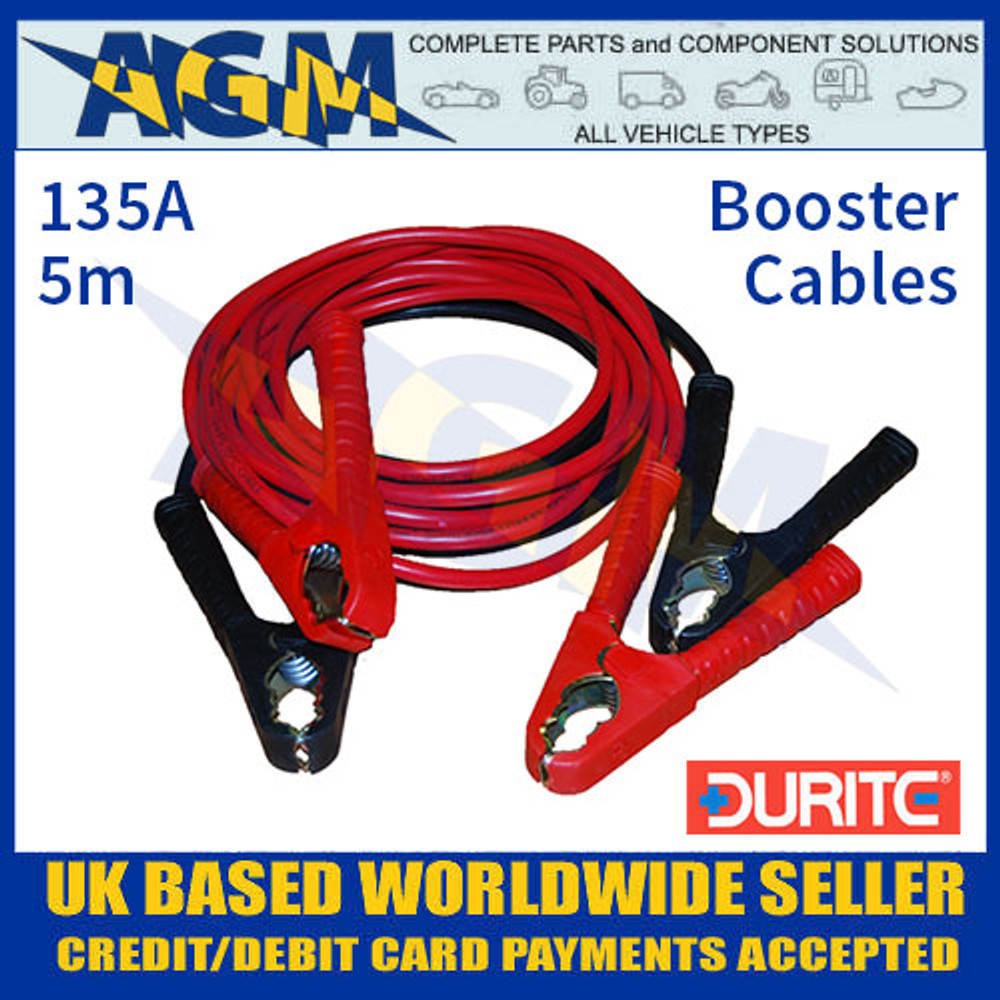 Durite 0-205-00 Set of Two Slave Leads 135A 5m Booster Cables