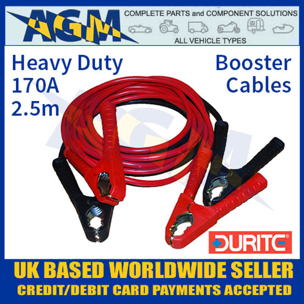 Durite 0-204-10 Set of Two Slave Leads 135A 5m Booster Cables
